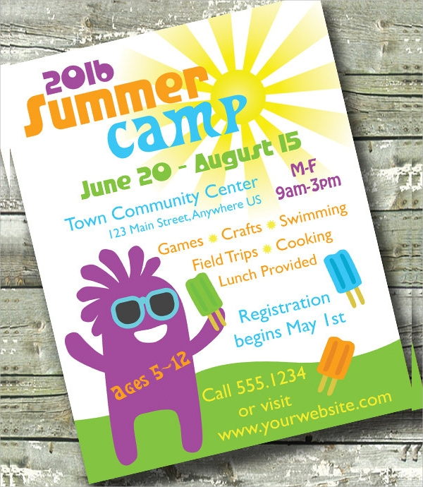 simple camp flyer