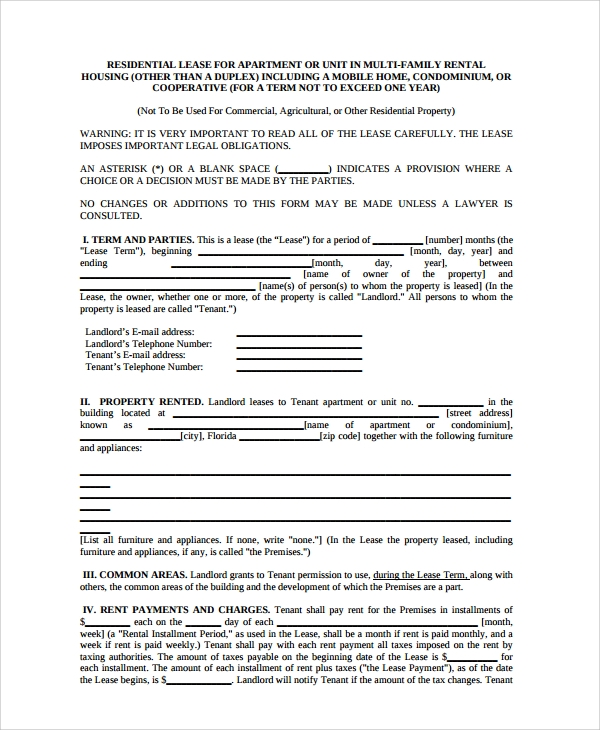 Sample Rental Agreement 19 Documents In Pdf Word