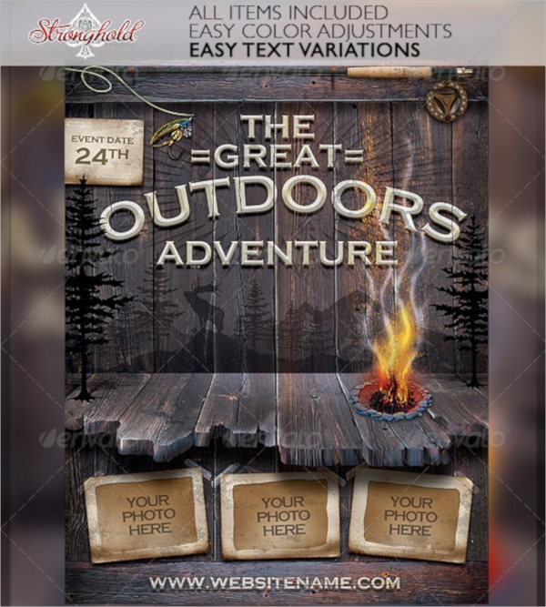 vintage camp flyer template