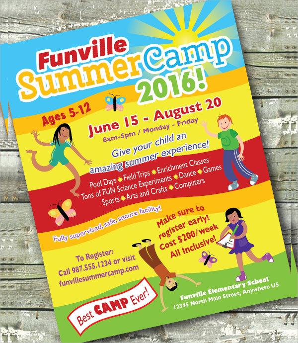 amazing camp flyer