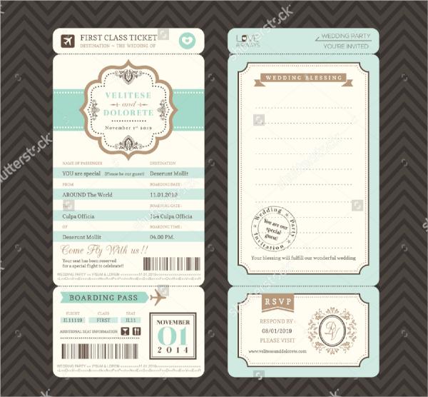 simple invitation ticket