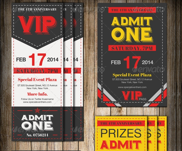 Ticket Invitation Templates  Psd Vector Eps