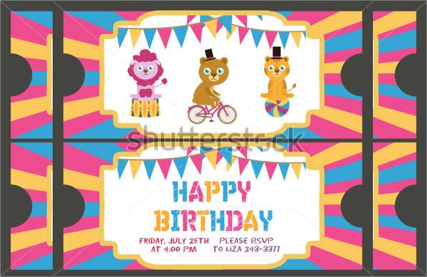 birthday ticket invitation