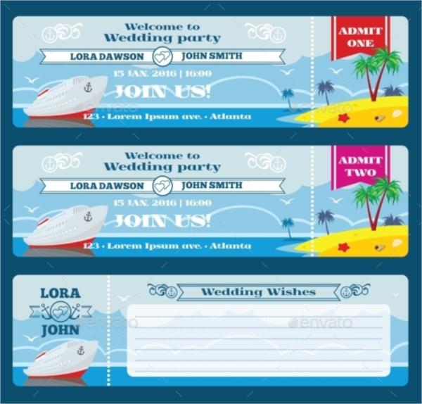 retro boarding pass ticket invitation