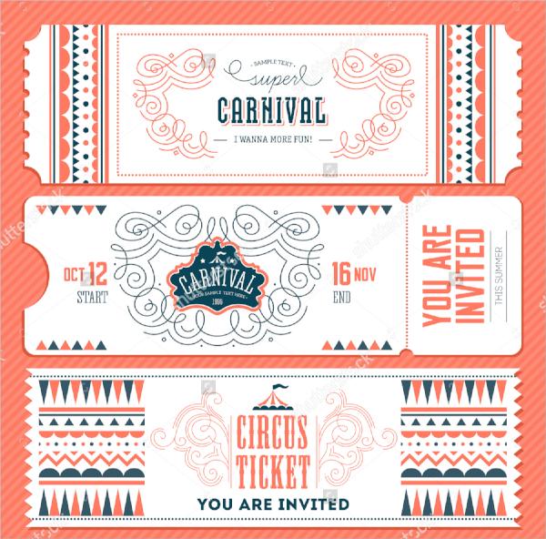vector invitation ticket