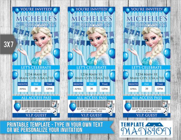 psd invitation ticket