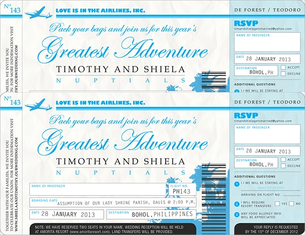 amazing invition ticket