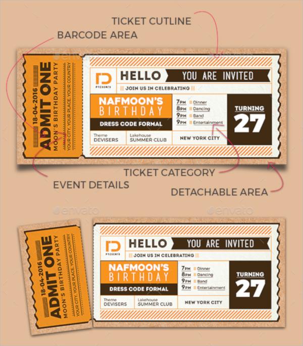 photoshop invitation ticket