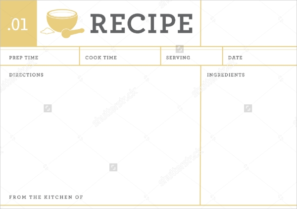 20+ Recipe Cards - Psd, Vector Eps