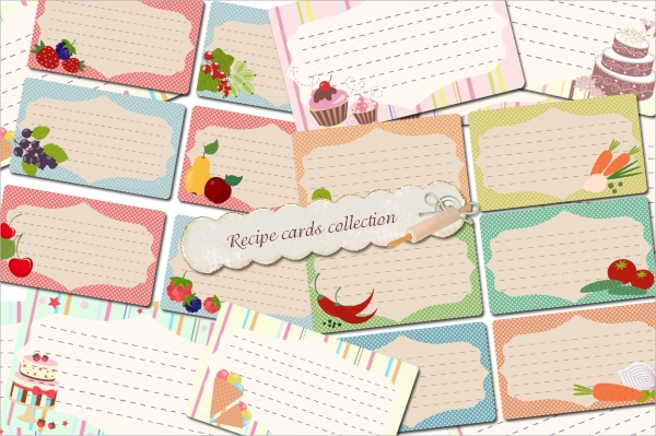 collection of recipe cards