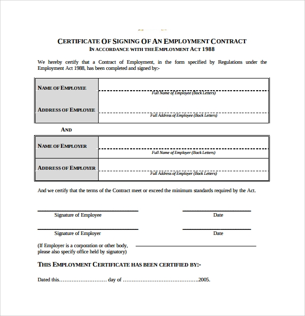 39 Sample Certificate Word Pdf Psd Ai