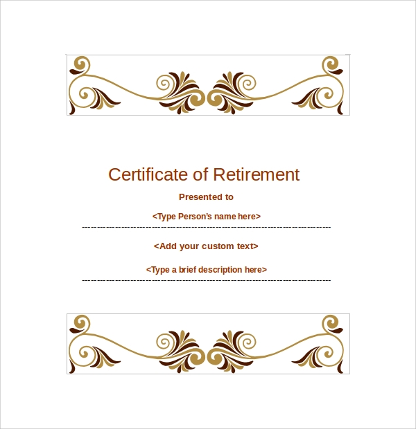 30 Sample Certificate Templates Sample Templates