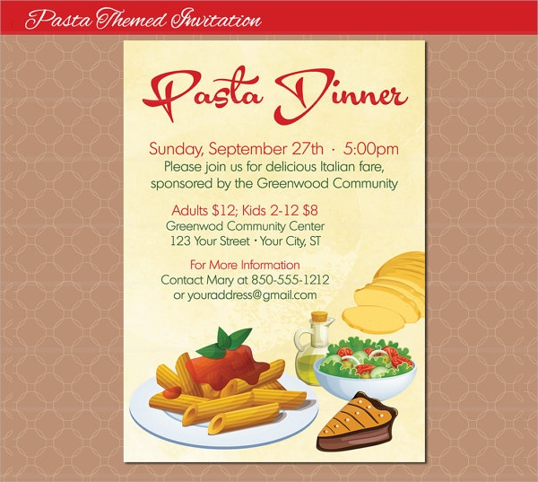 19 dinner flyers psd vector eps
