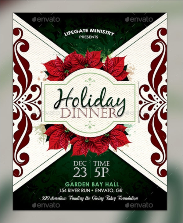 holiday dinner flyer template