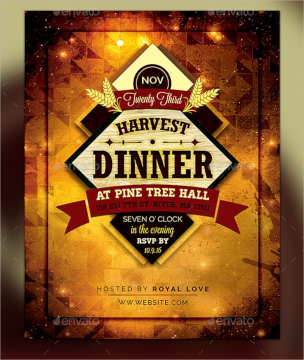 harvest dinner flyer template