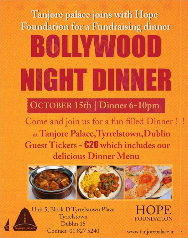 wondrous dinner flyer