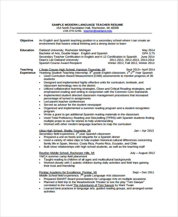 Sample Modern Resume Resume Examples For Engineering Jobs Resume