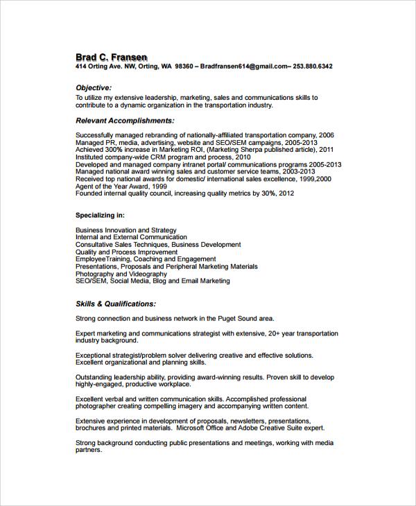 Sample Resume  34 Documents in