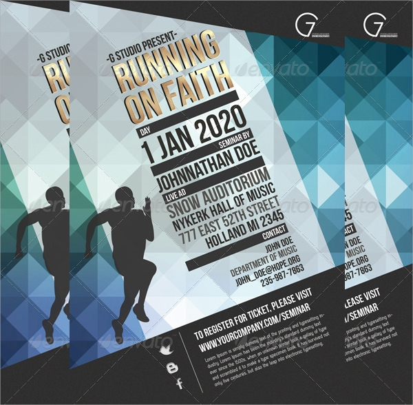 14 Seminar Flyers PSD Vector EPS – Seminar Flyer