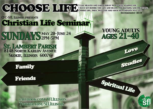 life seminar flyer