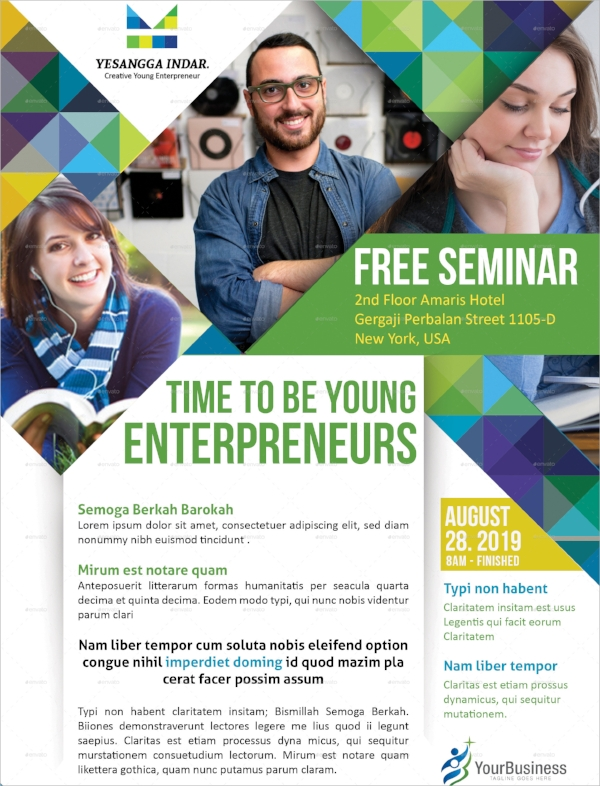 14+ Seminar Flyers - Psd, Vector Eps