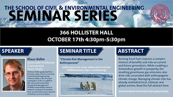 environmental seminar flyer