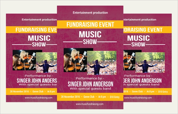music fundraising flyer template