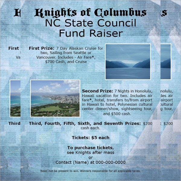 awesome fundraising flyer