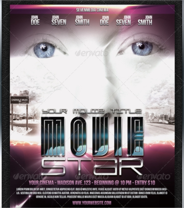 movie event flyer template