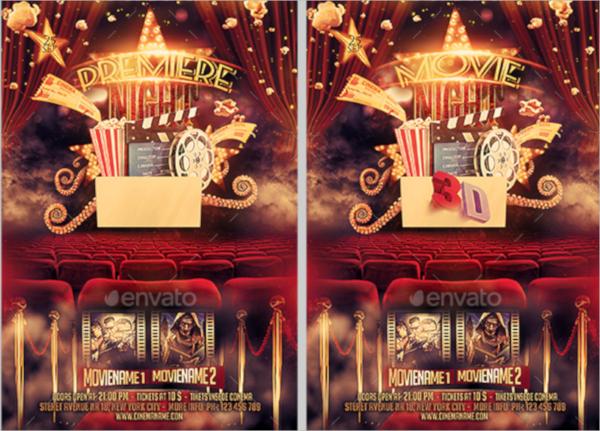 premiere movie flyer template