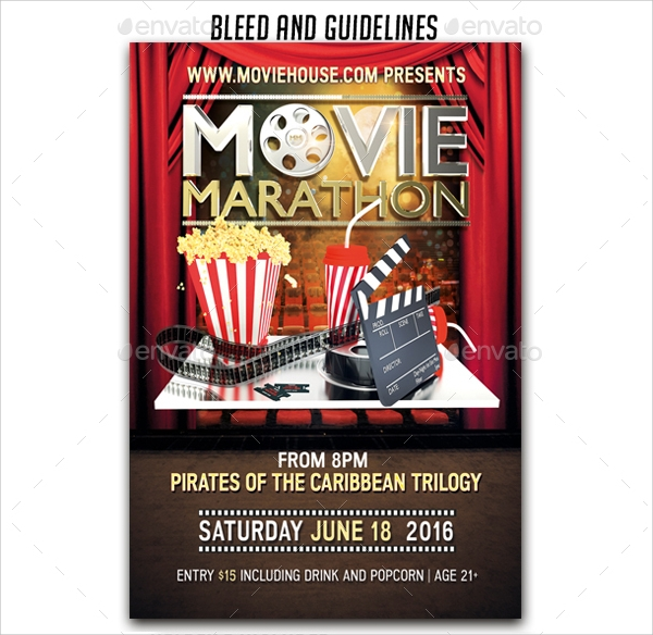 Movie Flyer Movie Night Flyer Template Movie Night Flyer Template