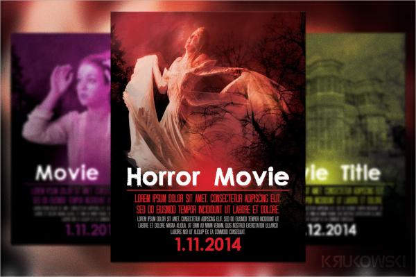 horror movie flyer template