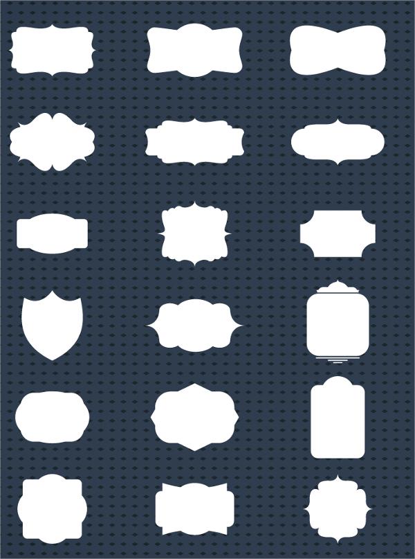retro label template