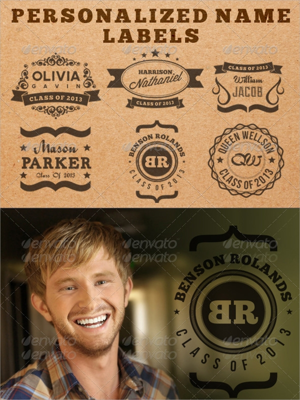 name label template