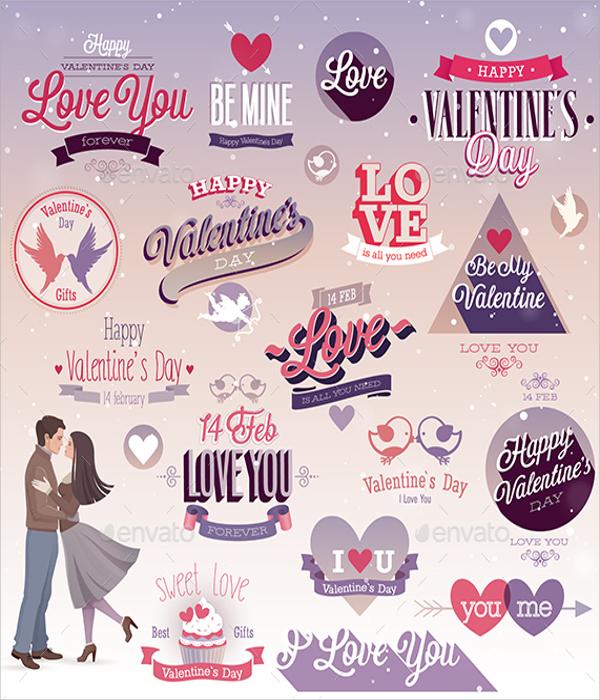 valentine label template