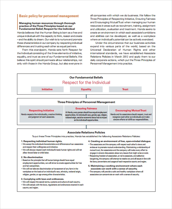 Sample Hr Resource   Documents In Pdf