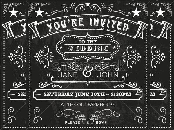 19 chalkboard invitations sample templates