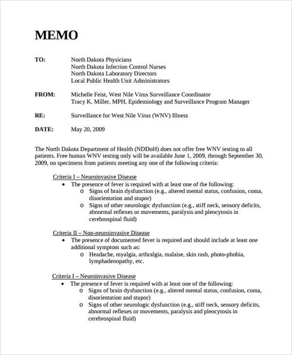 Memo Format   Internal Memo Templates  Free Sample Example