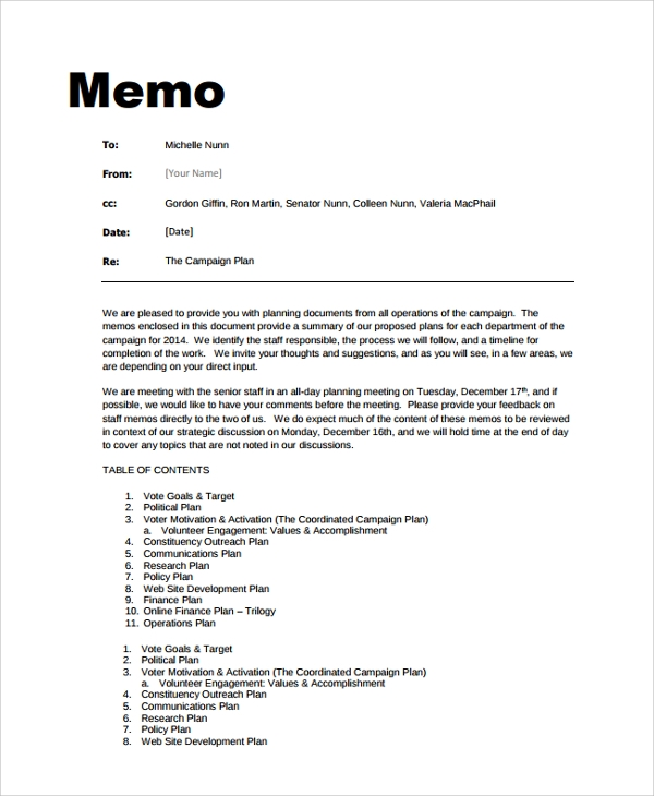 Sample Memo Format - 19+ Documents In Pdf, Word