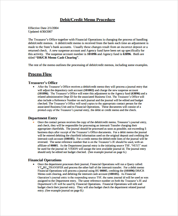 Sample Memo Format   Documents In Pdf Word