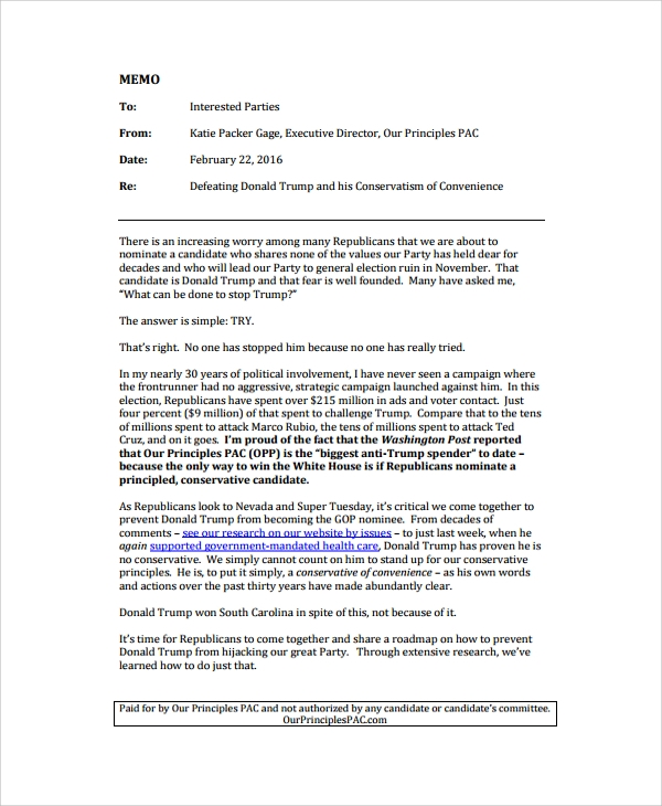 Executive Memo Templates Formal Deviation Request Memo Template