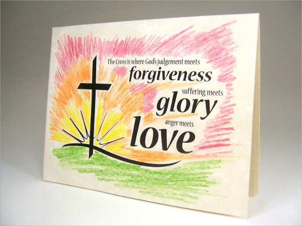 christian religious events card