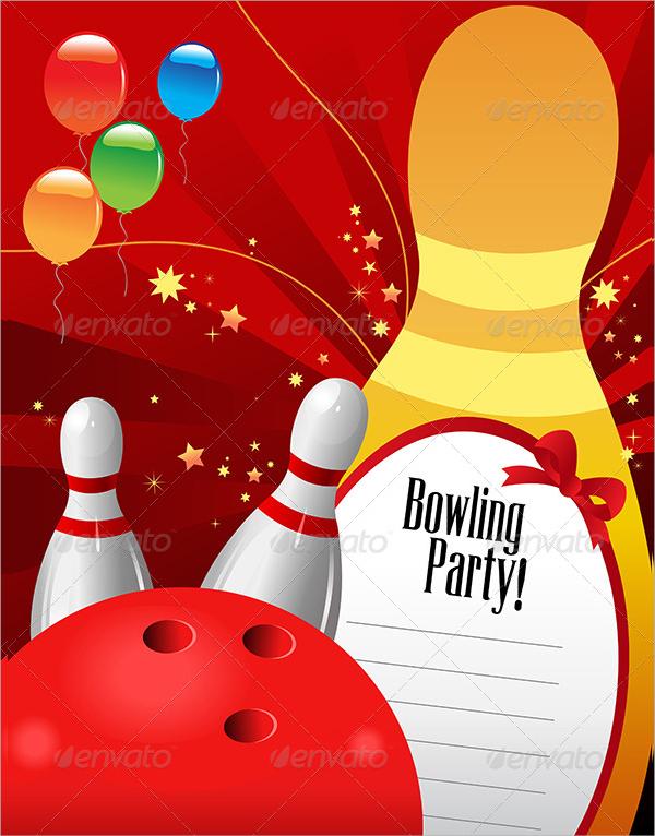 16 Bowling Invitation Templates Psd Vector Eps