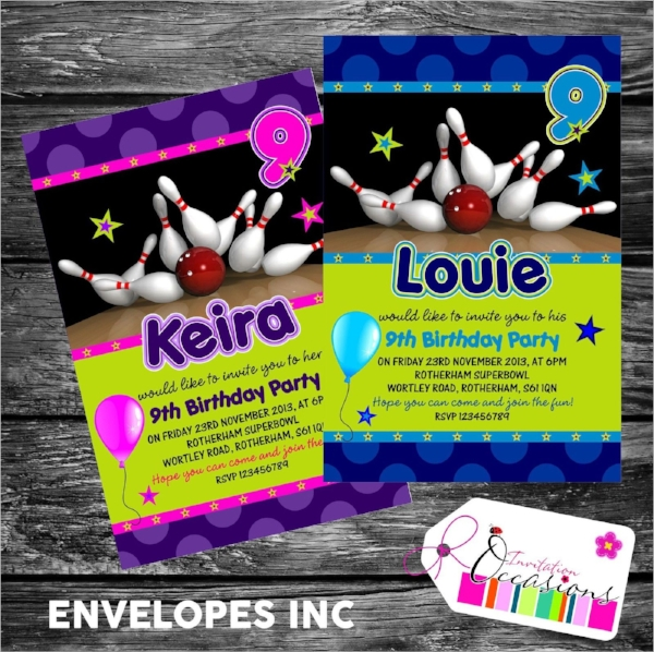 16 Bowling Invitation Templates Sample Templates