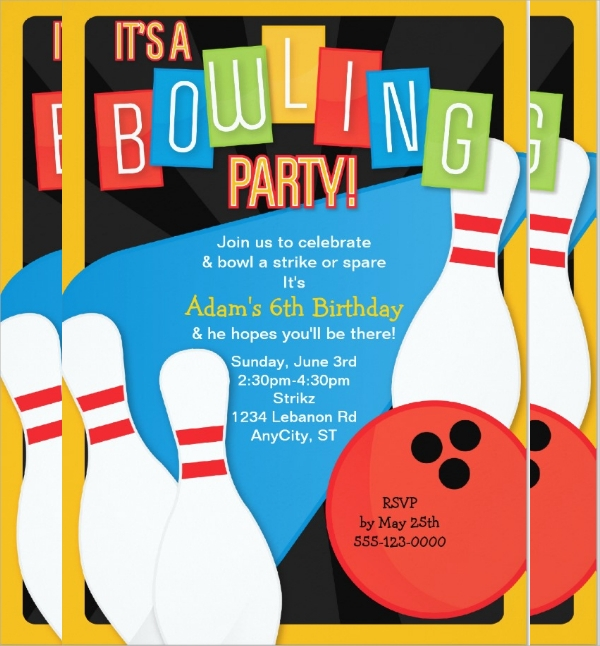 16+ Bowling Invitation Templates | Sample Templates