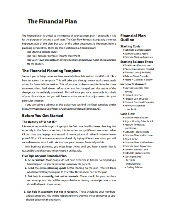 financial business plan This google spreadsheet model is a simplified model for entering assumptions about a business plan to project 5 years of annual financial statements and valuation.