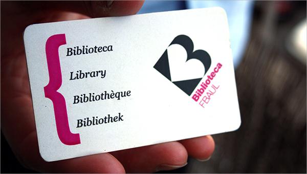 15 Library Card Templates Psd Vector Eps