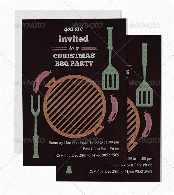 psd bbq invitation
