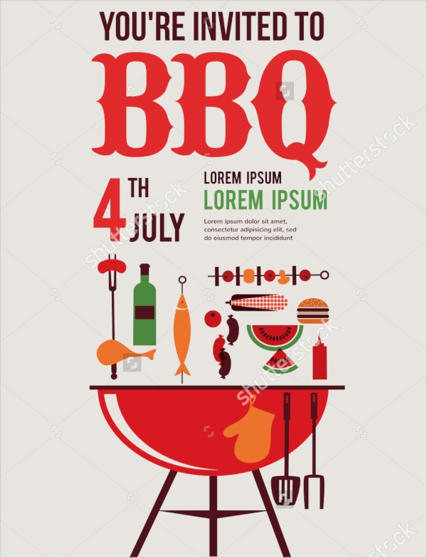wondrous bbq invitation template