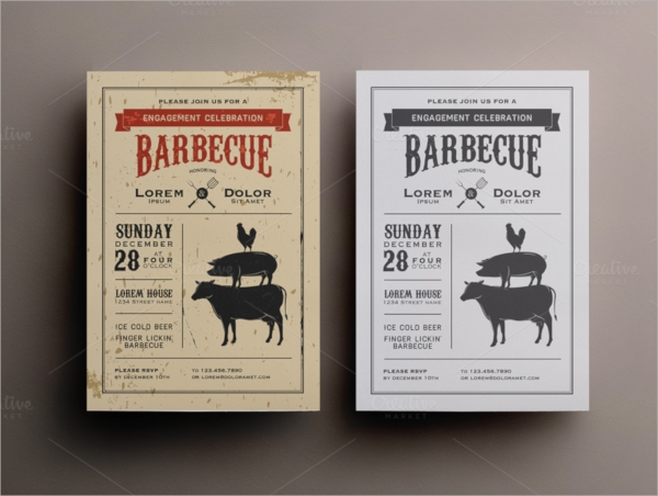 amazing bbq invitation template